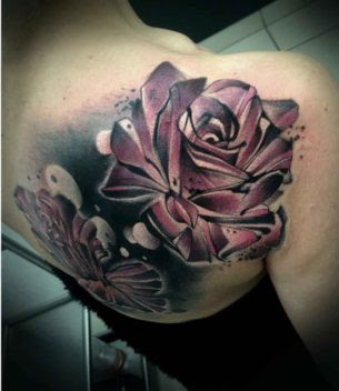 Roses Tattoo On Shoulder Blade Best Tattoo Ideas Gallery