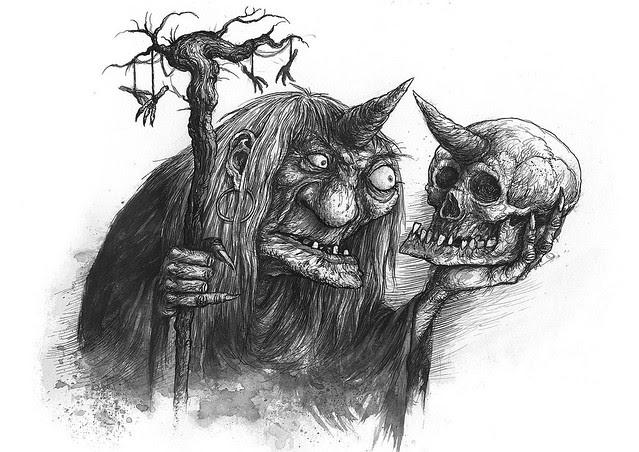 Ivica Stevanovic - Baba Roga Sketch 1