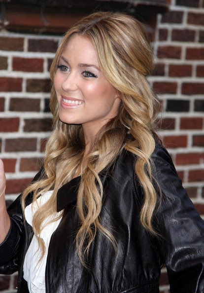 "Actress Lauren Conrad at ""Late Show with David Letterman in New York City."