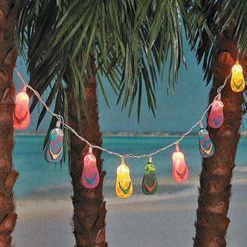 String of 10 Flip Flop Lights Measuring 8 feet