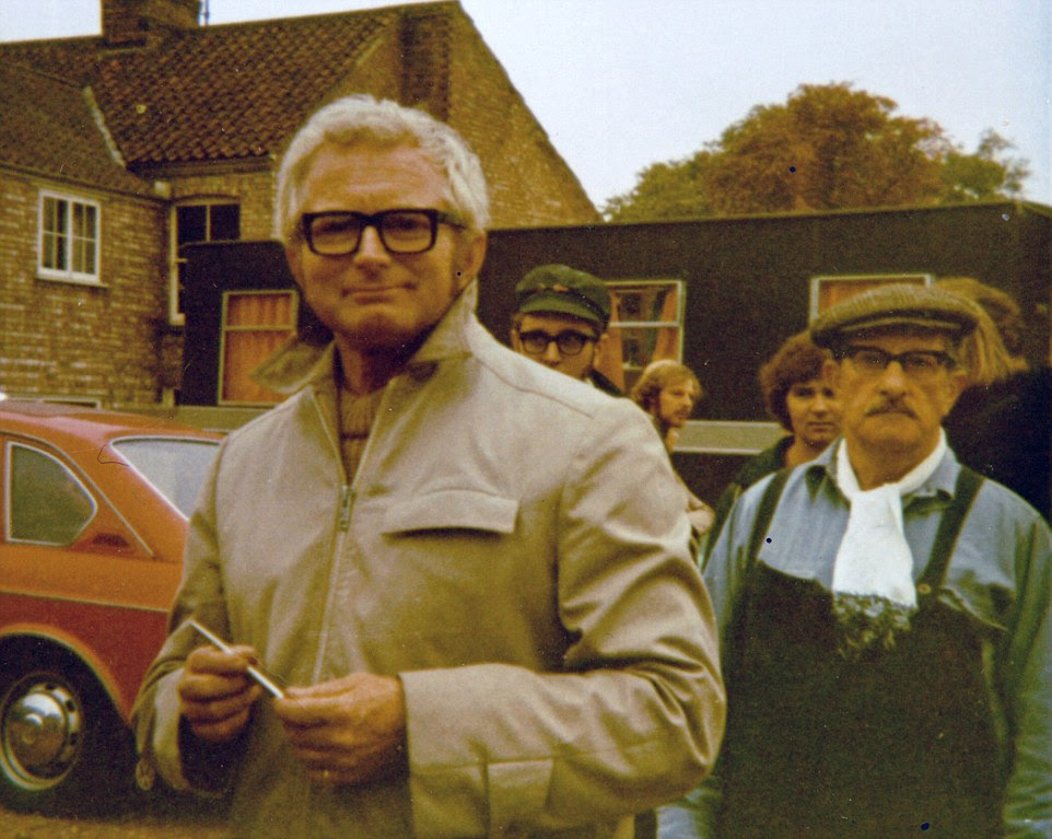 David Croft, the producer and director of Dad's Army, is pictured in Thetford on the set ofTime On My Hands