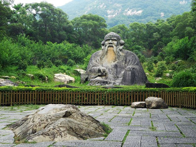 A famous statue of Laozi in Fujian.  Source: Wikimedia.