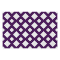 Purple Lattice on White