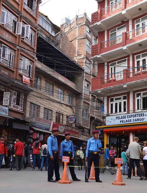 Police at Thamel Entrance