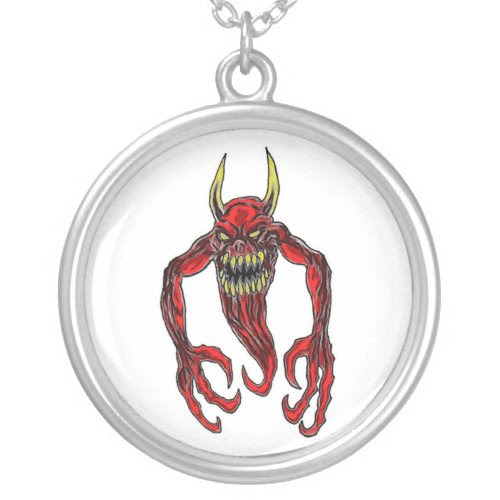 Hell Demon Art necklace
