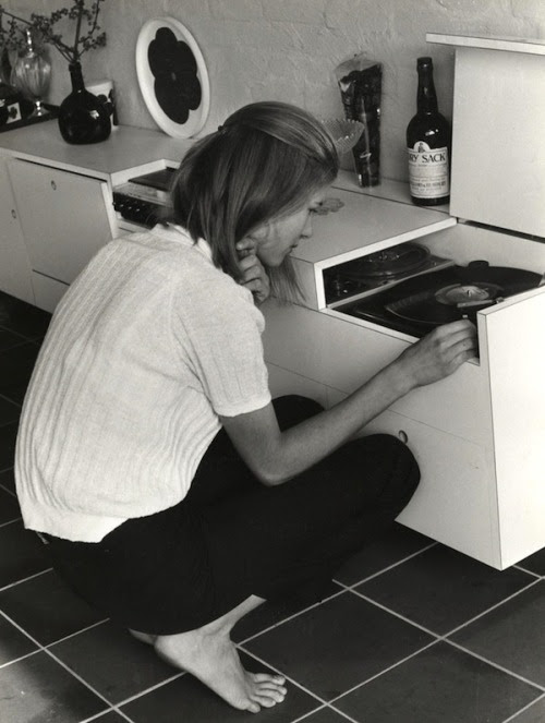 Complete GPOY this evening lauramcphee:  Girl at Record Player, c1970 (Claar Pronk)