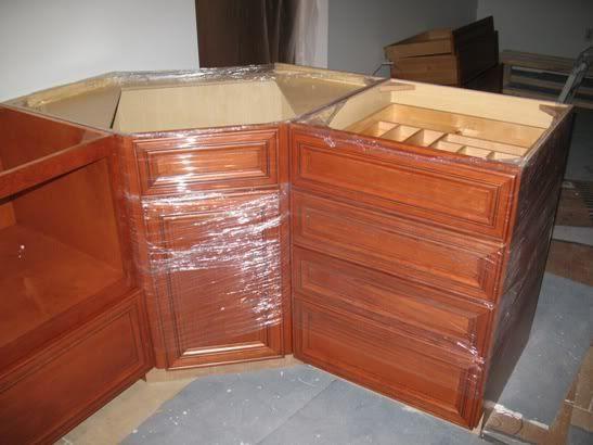 Help/ideas building a corner sink cabinet