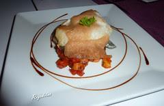 Taco de bacalao confitado en soufle de allioli