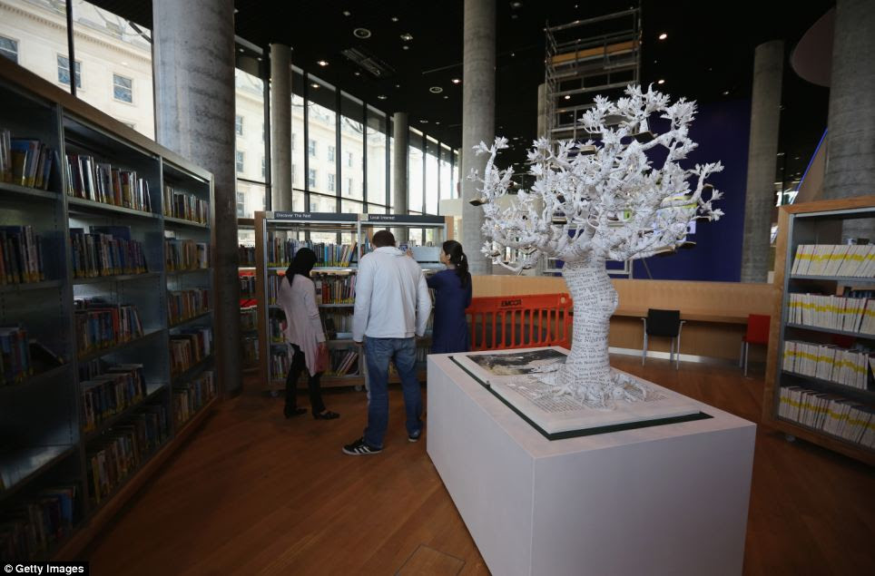 Exclusive viewing: Some residents have already had the opportunity to view the library before its official opening