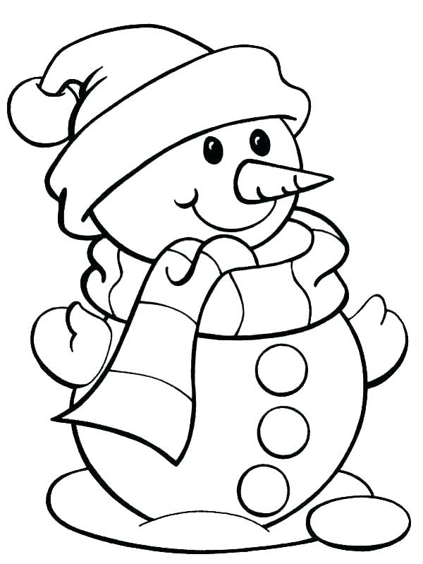 Easy Santa Coloring Pages at GetColorings.com | Free ...