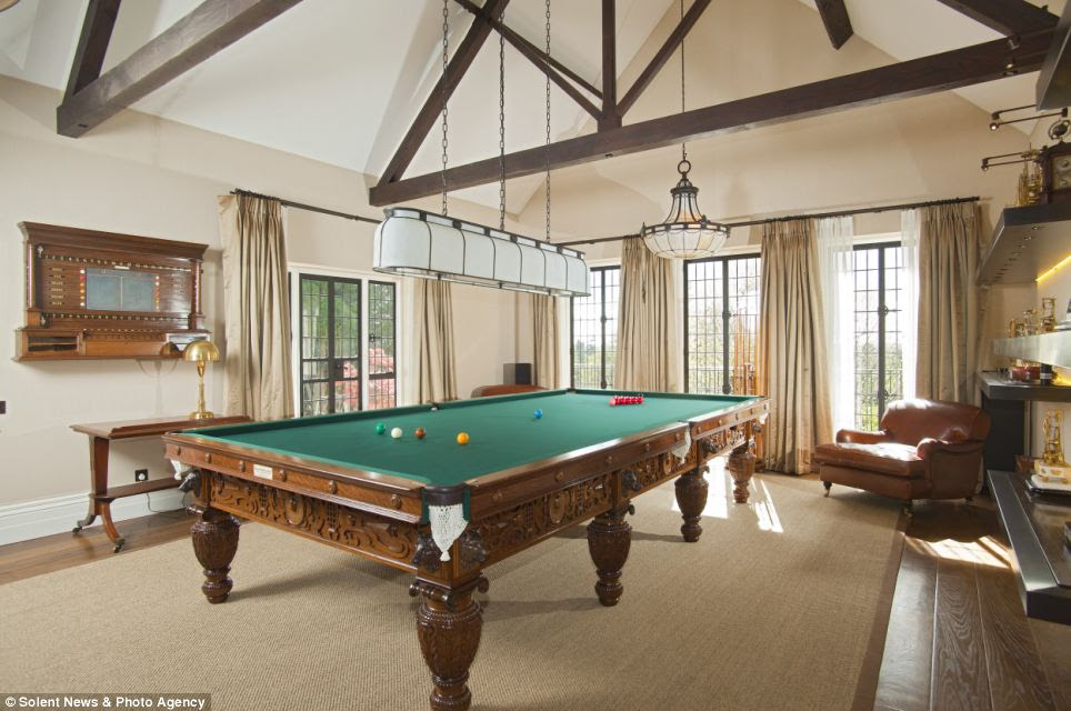 Leisure: The property contains a full-size snooker table and a heated indoor swimming pool with a sauna