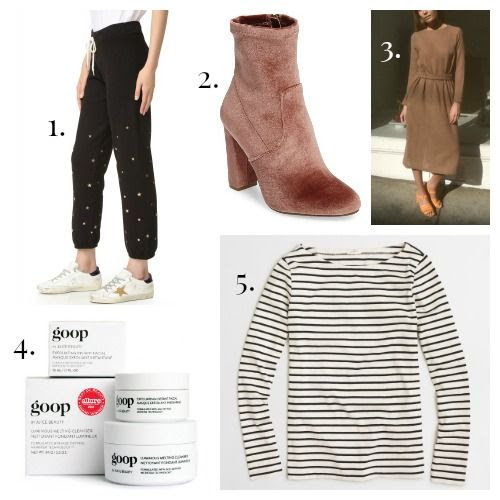 Monrow Sweats - Steve Madden Boots - No. 6 Dress - GOOP Skincare - J.Crew T-Shirt