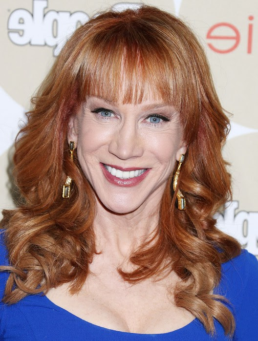 Kathy Griffin Feminine Long Curly Hairstyle with Bangs for Women Over 50 | Styles Weekly