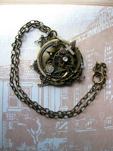 Steampunk Goddess Necklace! 16