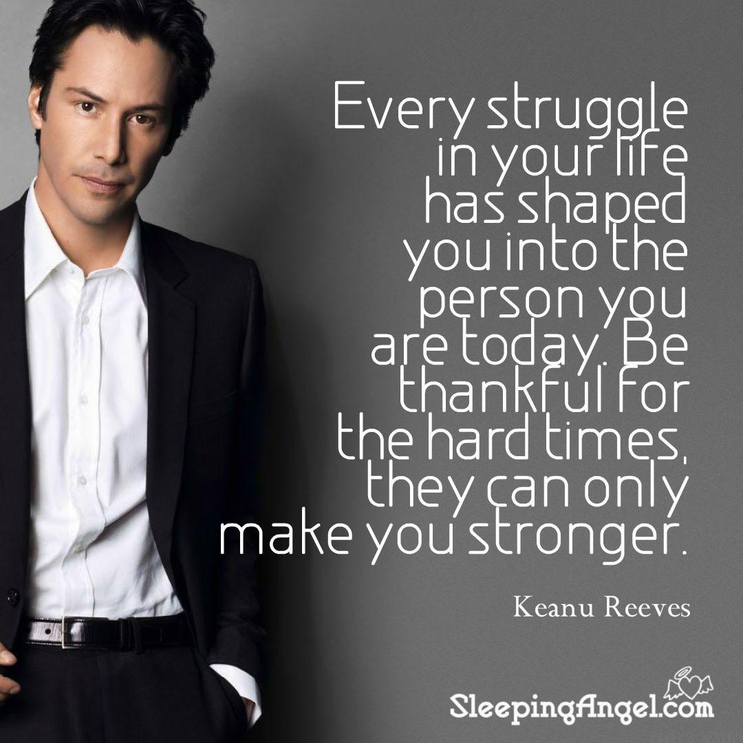 Keanu Reeves Quote Sleeping Angel