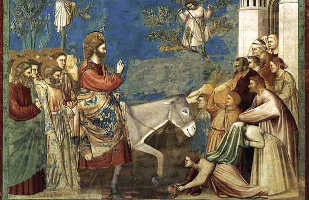 Entrada triunfal en Jerusalén, comienzo de la Pasión y Muerte de Jesús