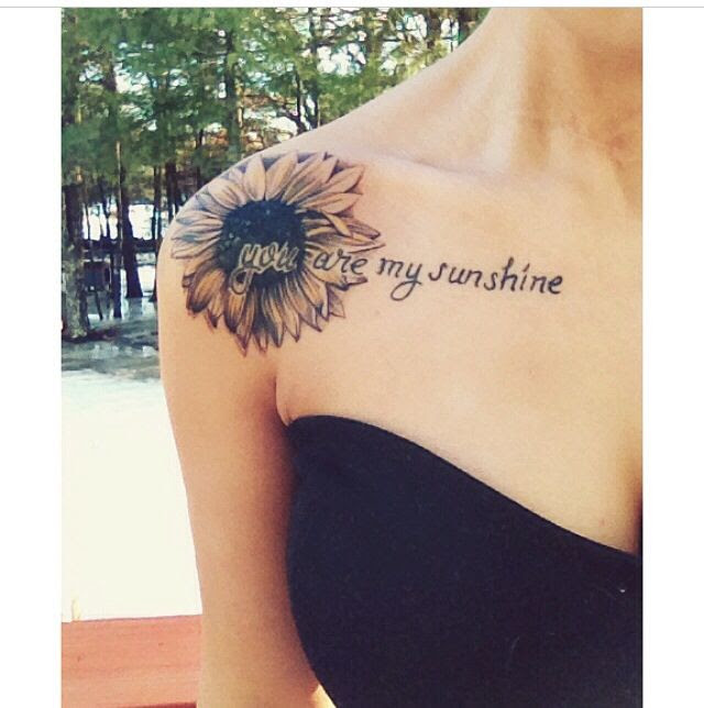 Girl Shoulder Sunflower Tattoo Tattoomagz