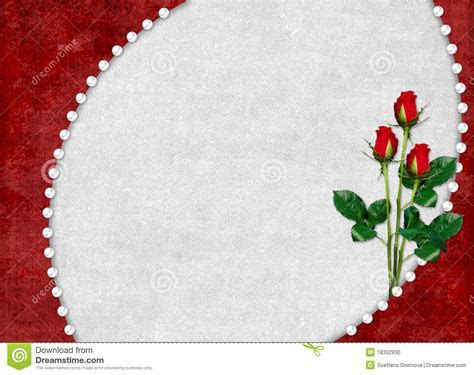 Card For The Holiday With Red Rose Stock Photo   Image