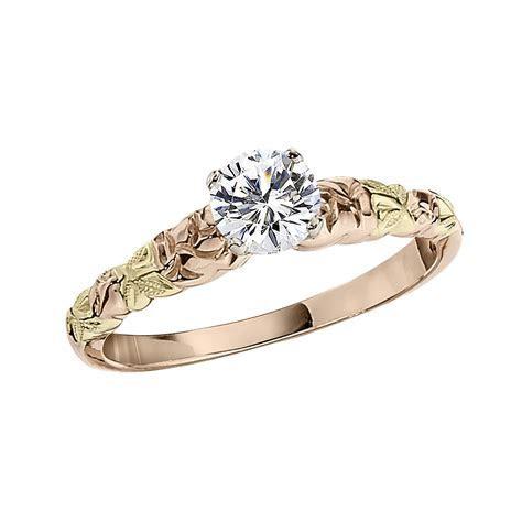 Elegant black hills gold engagement ring   Matvuk.Com
