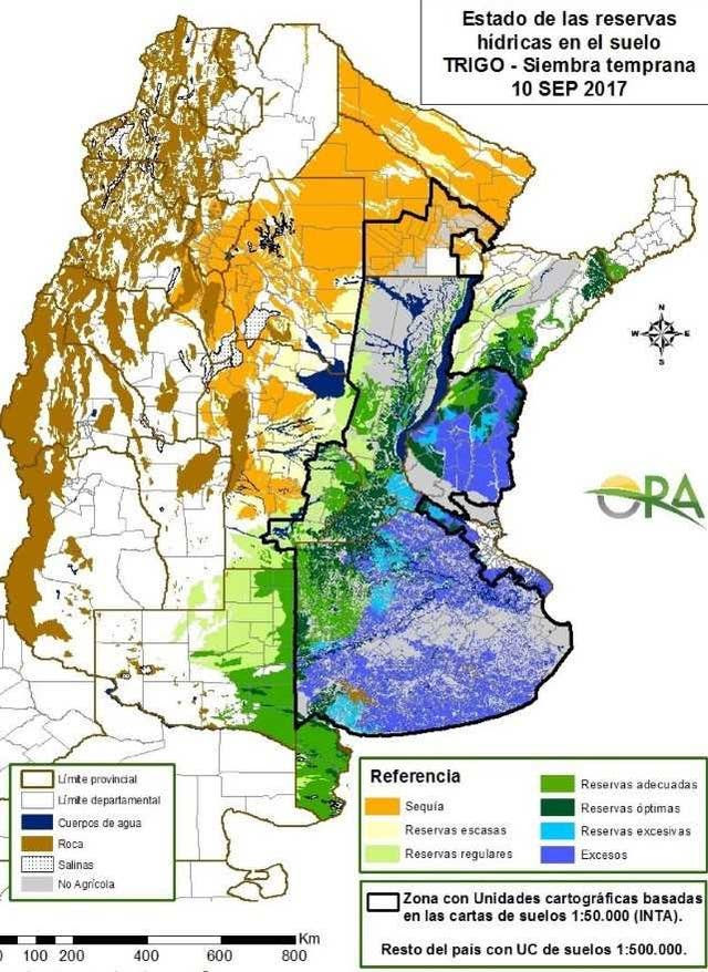 La situación hídrica al 10 de septiembre