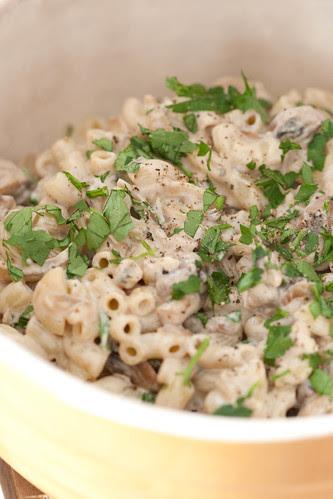 Blue cheese and mushroom pasta / Seene-hallitusjuustukaste makaronidele