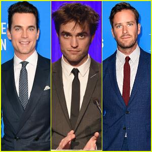 Matt Bomer, Robert Pattinson, & Armie Hammer Suit Up for HFPA Banquet