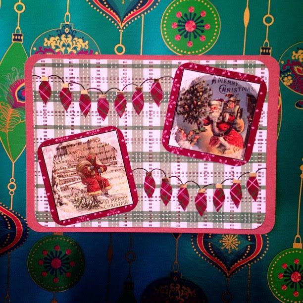 #santaclaus #fairylights #christmas #snailmail #postcard