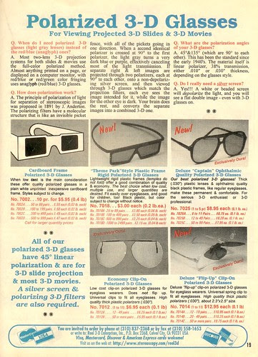 Polarized 3-D Glasses