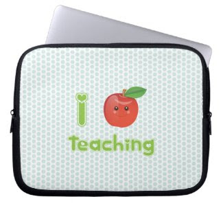 Kawaii I heart teaching - Laptop Sleeve electronicsbag
