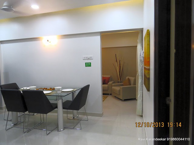 View of Dining & Living - Visit 2 BHK Show Flat of Venkatesh Lake Life, Phase 1 - 1 BHK 2 BHK Flats & Shops on Dattanagar Jambhulwadi Road, Ambegaon Khurd, Pune