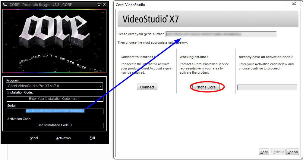 corel videostudio pro x7 keygen + activation code