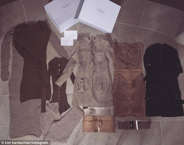 That's some seriously tight clothing! Kim also received some free Balmain clothes to wear once she loses her baby weight
