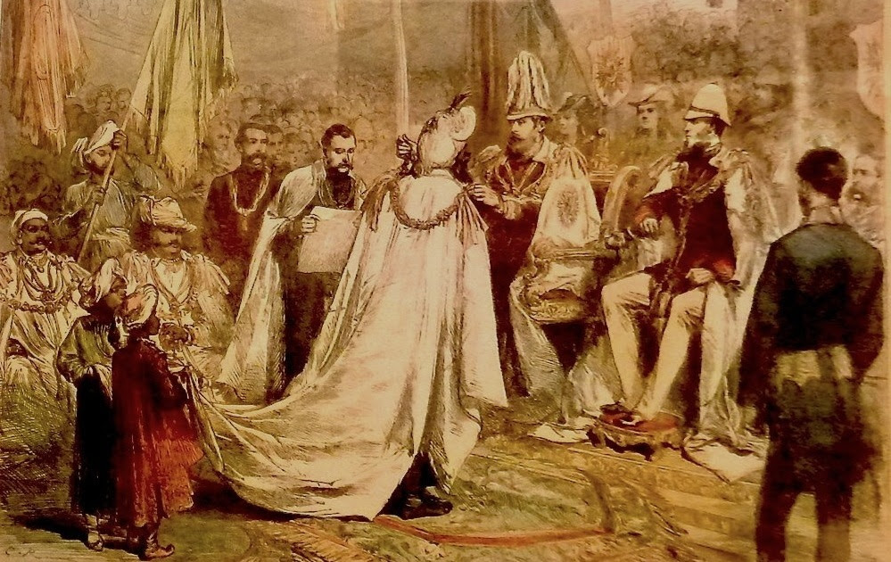 Image result for 1875 PRINCE WALES IN INDIA BOMBAY; PEOPLE 'WELCOMING' HIM