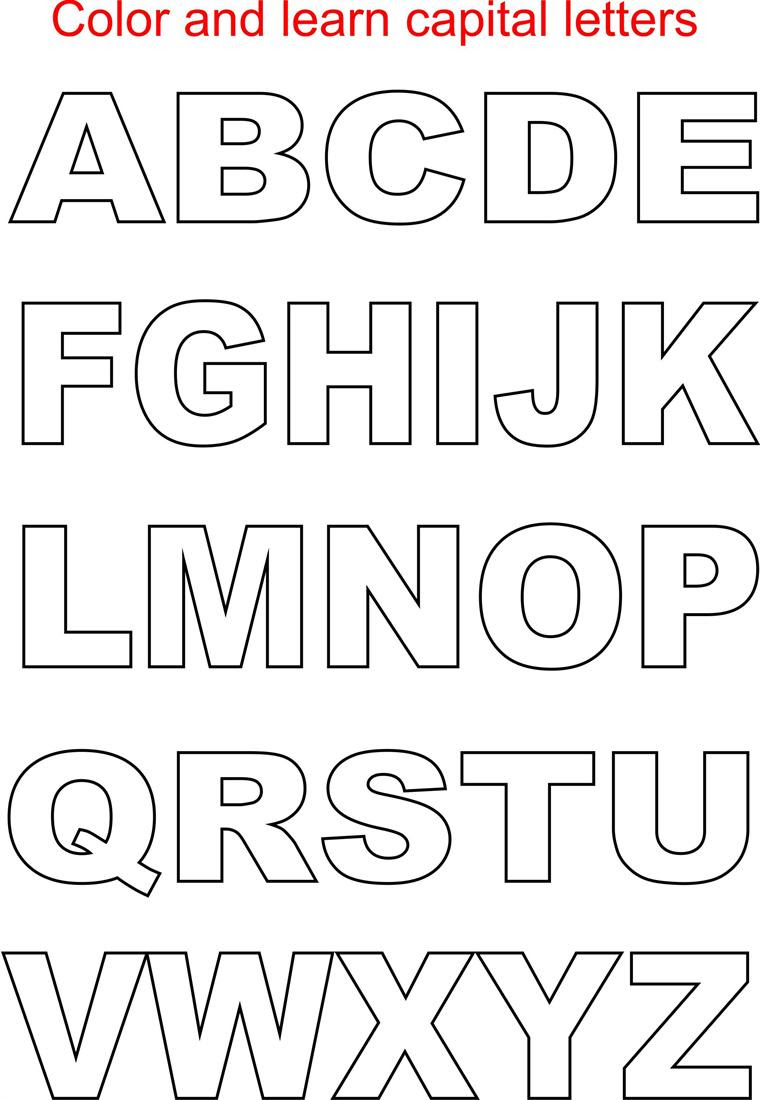 Uppercase Alphabet Coloring Pages - Printable Coloring Pages
