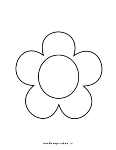 Molde De Flor Para Imprimir Gratis Paraimprimirgratiscom