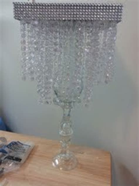 diy crystal chandelier centerpiece weddingbee photo gallery