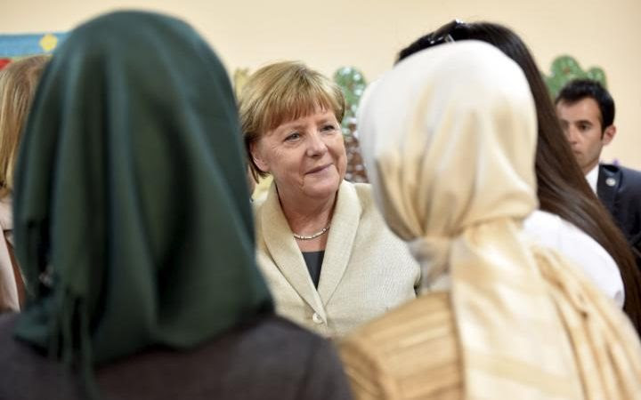 Angela Merkel during her visit to Nizip