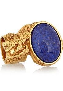 Gösterişli altın kaplama yüzük, £ 180, YSL