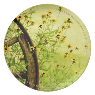 Black-Eyed Susan and Wagon Wheel Photo Plates