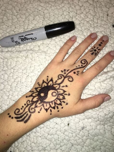 easy simple henna sharpie drawings pinterest