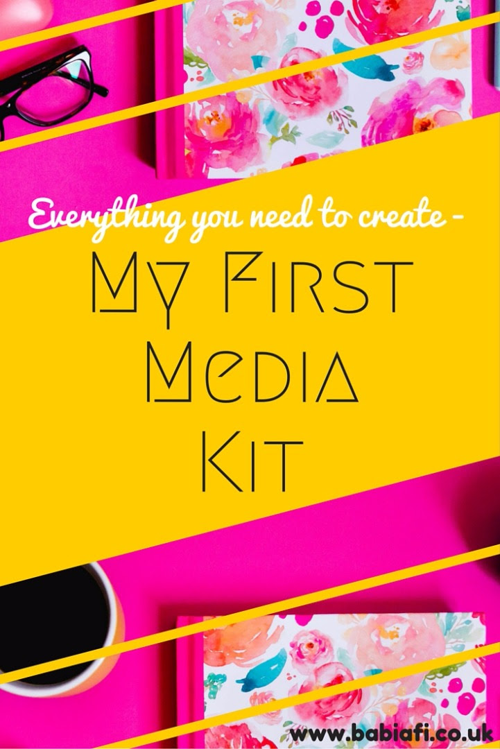 Everything you need to create 'my first media kit'
