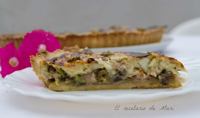 tarta de champiñón y queso (2)