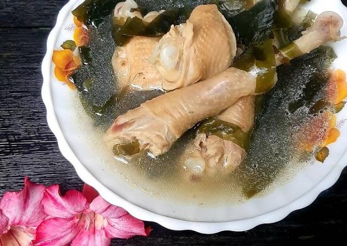 resep membuat sup rumput laut ayam sederhana dan enak