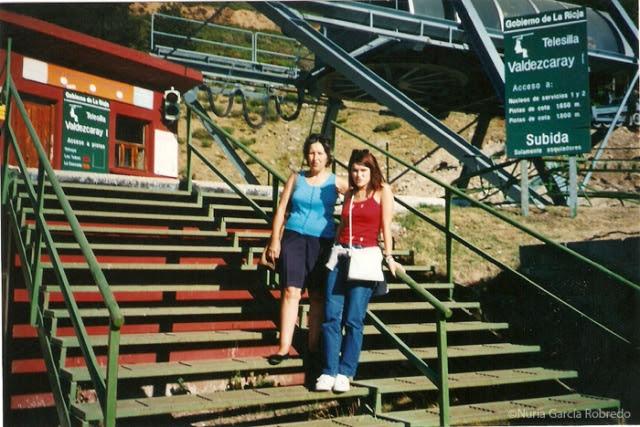 Mi ama y yo en Valdezcaray (en Agosto)
