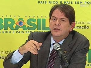 Ministro da Educação, Cid Gomes (Foto: Reprodução/NBR TV)