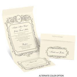 Posh Frame Seal and Send Invitation   Invitations by Dawn