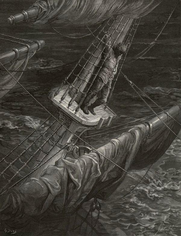 I had done a hellish thing - from The Rime of the Ancient Mariner - by Gustave Dore (A. Gusman, engraver)