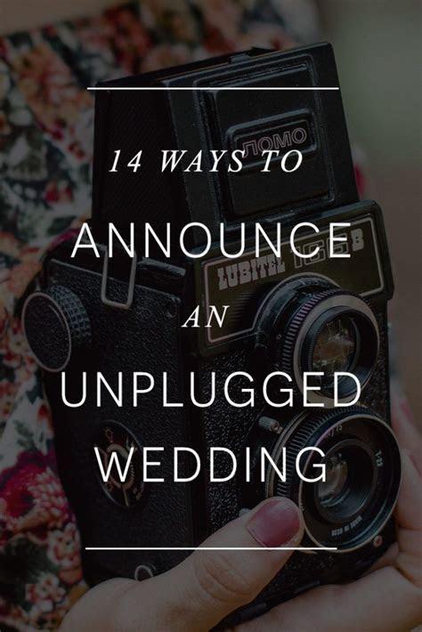Best 25  Unplugged wedding ideas on Pinterest   Unplugged