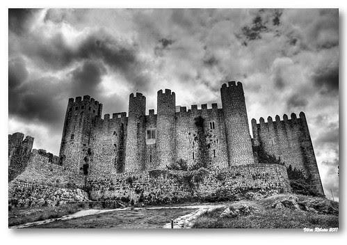 Castelo de Óbidos b/w by VRfoto