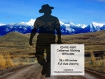 Cattleman Walking Silhouette Yard Art Woodworking Pattern - fee plans from WoodworkersWorkshop® Online Store - cowboys,rodeo,ranchers,cowhands,cattleman,yard art,painting wood crafts,drawings,plywood,plywoodworking plans,woodworkers projects,workshop blueprints